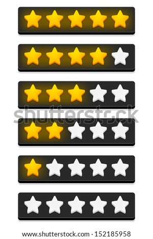 Rating stars. Vector illustration. - stock vector