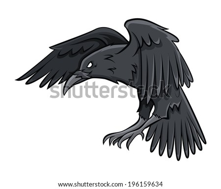 Raven - stock vector