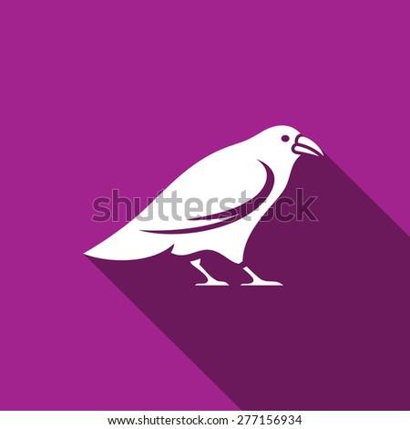 Raven icon. Vector Illustration - stock vector