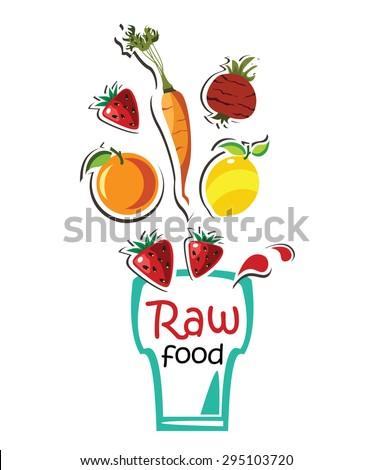 raw food   - stock vector
