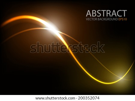 Ray light background curve line technology digital lighting art background for text and message design , vector - stock vector