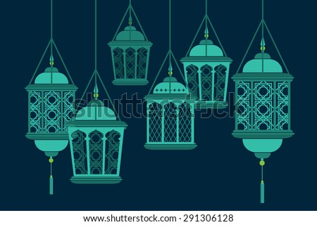 raya lantern vector/illustration - stock vector