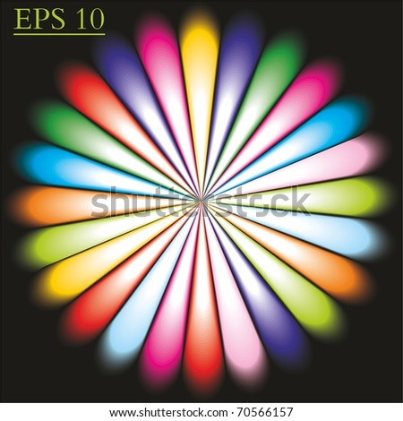 Rays abstract. Vector. - stock vector