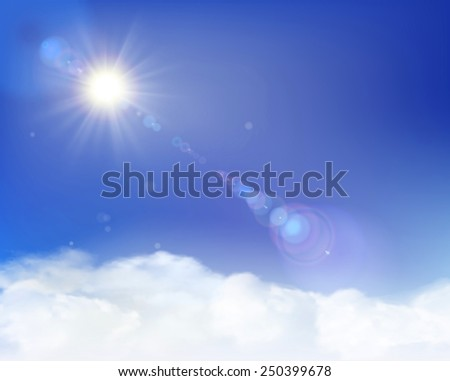 Rays of sunlight. Vector Illustration. - stock vector