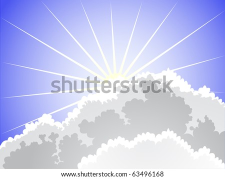 rays of the sun breaking through clouds