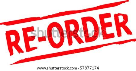 re order grunge stamp vector - stock vector
