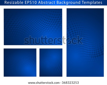 Re-sizable Abstract Business Blue EPS10 Vector Background Templates with dot swirls and plenty of text space. .Perfect for Healthcare and Medical communications.