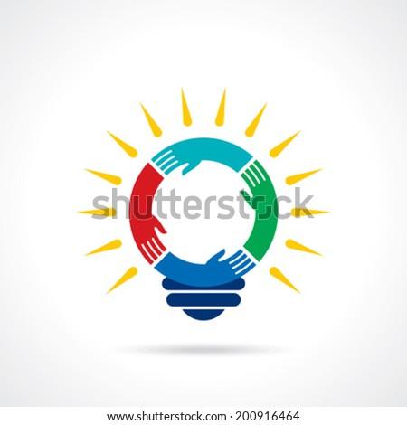 reach idea with human hand - stock vector