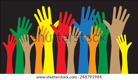 reaching hands freedom diversity