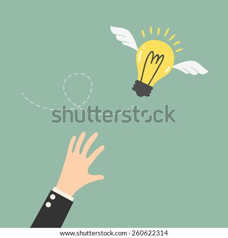Reaching The Flying Idea - stock vector