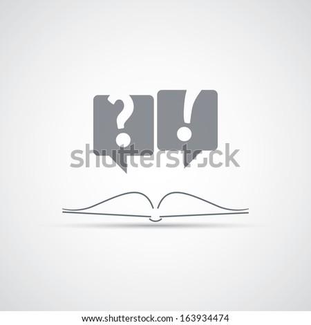 Reading a Book - Icon Design - stock vector