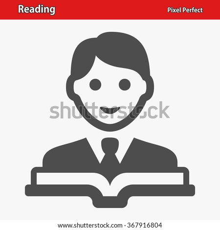 Reading Icon. Professional, pixel perfect icons optimized for both large and small resolutions. EPS 8 format. - stock vector