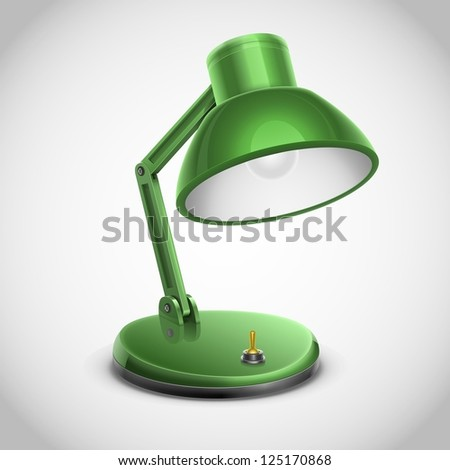 reading lamp vector icon - stock vector