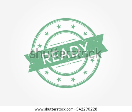 ready. green stamp sign vector illustration
