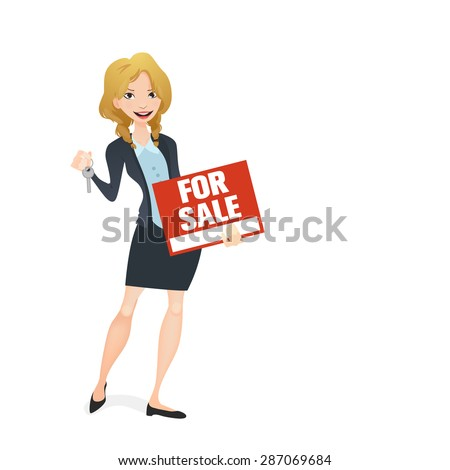 Real Estate agent - stock vector