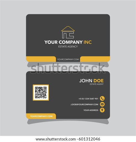Real estate agent business card template stock vector 2018 real estate agent business card template wajeb Images