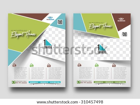 Real Estate Agent Flyer & Poster Template  - stock vector