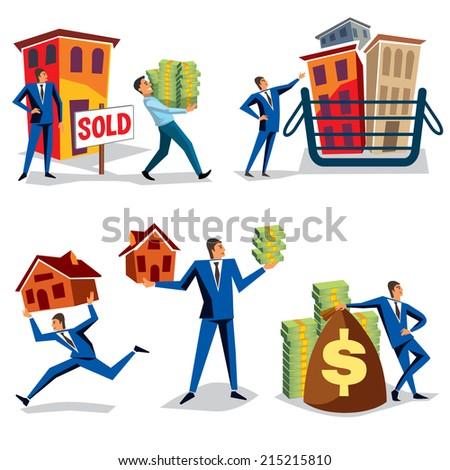 Real Estate Agent - Illustration - stock vector
