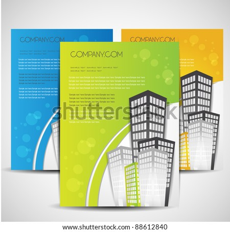 real estate brochure design - stock vector