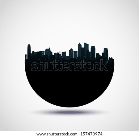 real estate buildings design  - stock vector