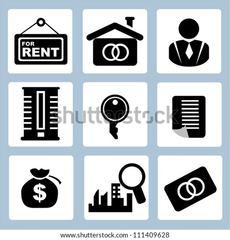 real estate business - stock vector