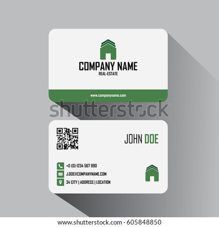 Real estate business cards vector template stock vector royalty real estate business cards vector template reheart Image collections