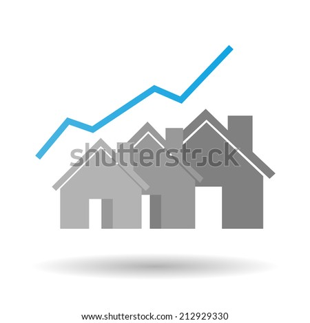 Real estate business graph - stock vector