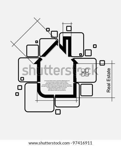 real estate circuit vector - stock vector