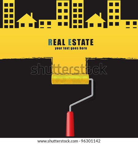 Real estate concept design. - stock vector