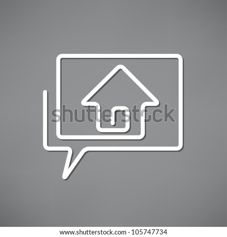 Real estate concept design element speech bubble - stock vector