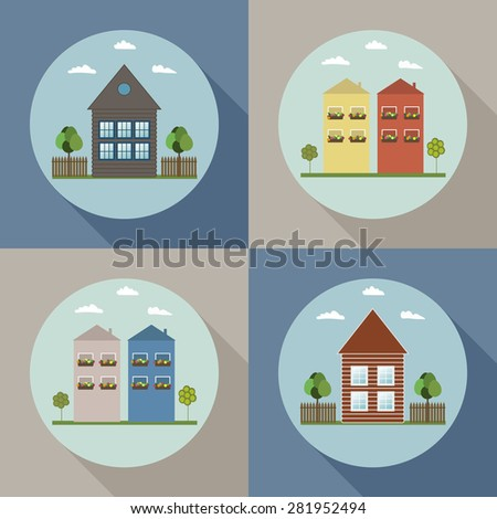 Real Estate Concept: Houses For Sale / Rent