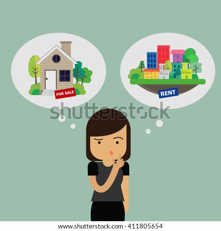 Real Estate Concept. Trading house. Vector Illustration - stock vector