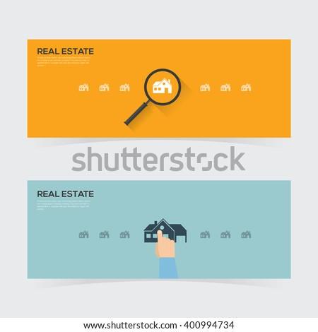Real estate design concept . Vector illustration - stock vector