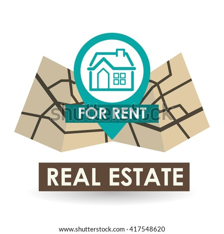 Real estate design. home concept. Property icon, vector illustration - stock vector
