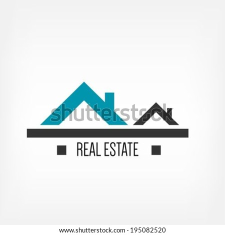 Real estate design template - stock vector