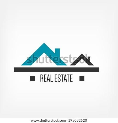 Real estate design template - stock vector
