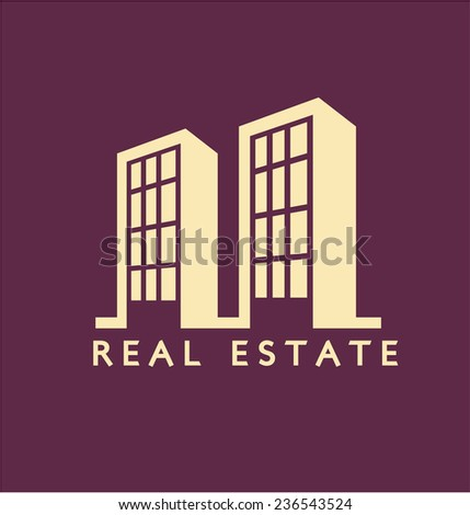 Real estate Flat Color - stock vector
