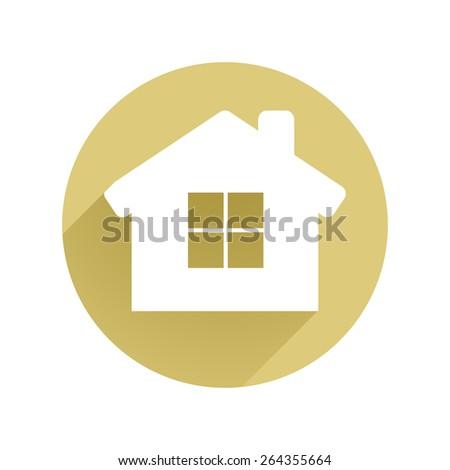 Real Estate Flat Icon Vector  - stock vector
