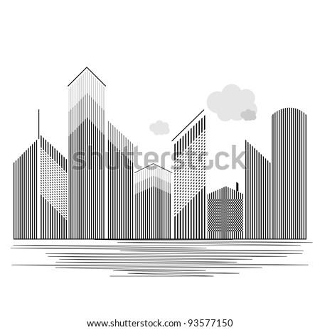 Real estate grey color - stock vector