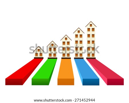Real estate growth - stock vector