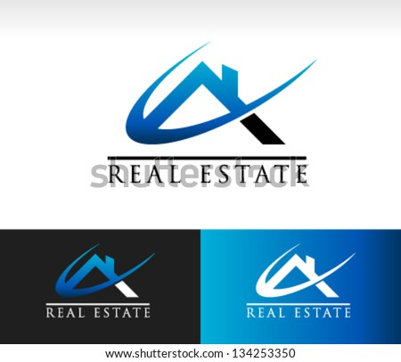 Real Estate House Roof Logo Icon - stock vector