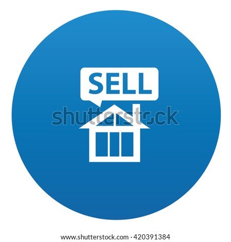 Real estate icon design on blue background,vector
