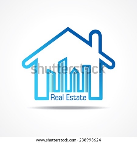 Real Estate icon for sale property concept stock vector - stock vector