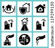 real estate icon set, property icon set - stock vector