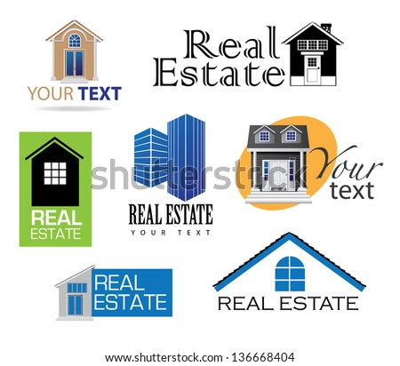 Real Estate Icons. EPS 10 vector, grouped for ays editing. No open shapes or paths. - stock vector