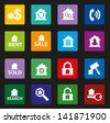 real estate icons set with Colorful Style - stock vector