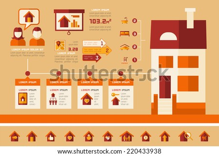 Real Estate Infographics. - stock vector