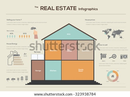 Real estate infographics vector illustration - stock vector