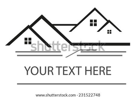 Real estate logo - stock vector