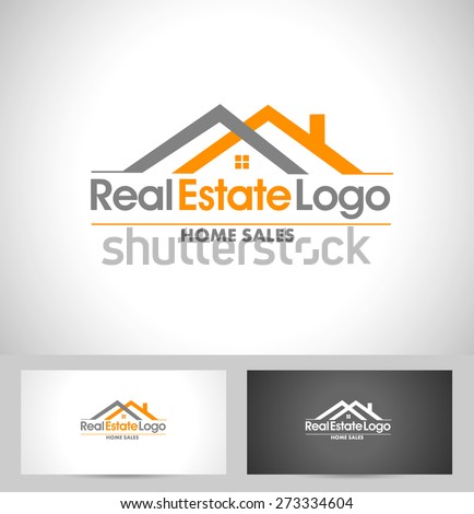 Real Estate Logo Design. Creative abstract real estate icon logo and business card template. - stock vector